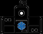 Chiller condizionamento centralizzato Refrigerante naturale CO2 R744