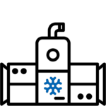 Icona Chiller condizionamento centralizzato Refrigerante